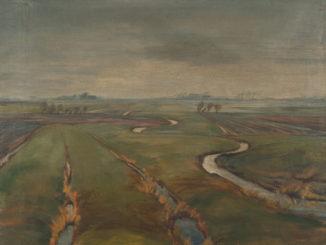Carl Blohm, Marschlandschaft mit Priel, o. J., Detlefsen-Museum Glückstadt (Foto: Walter Worm)